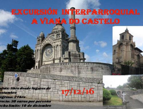 Excursión interparroquial a Viana do Castelo el 17 de diciembre de 2016