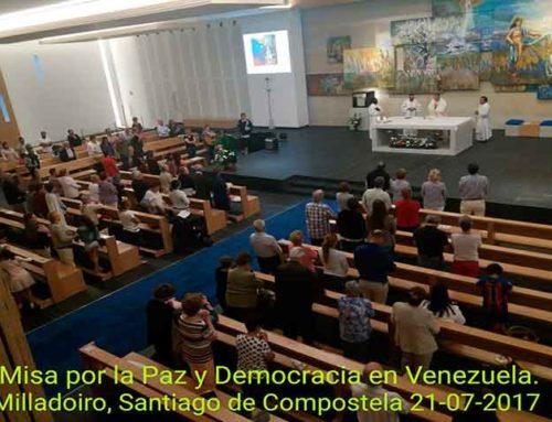 Misa por Venezuela el 21 de julio en San José de Milladoiro