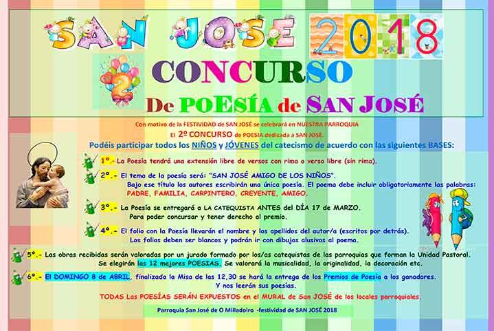 """Concurso de poesía """"San José 2018"""""""