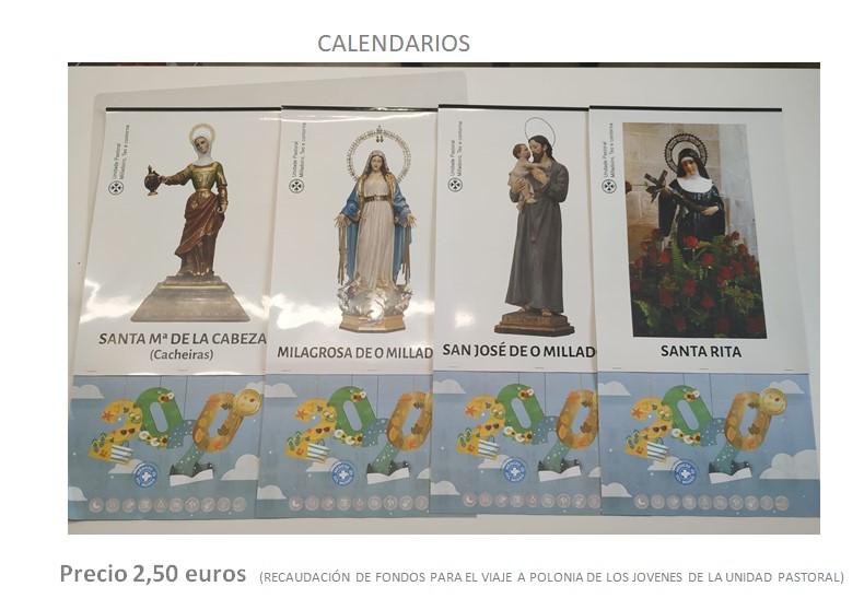 Venta de calendarios de la Unidad Pastoral