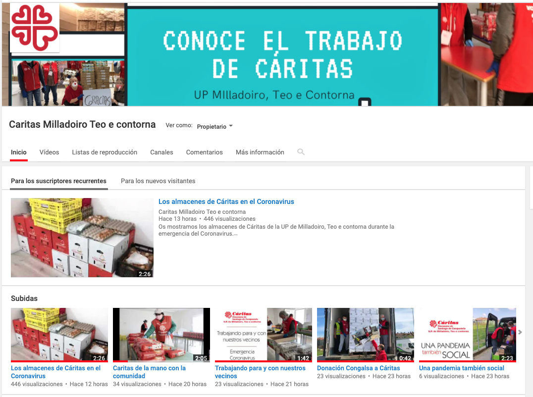 Estrenamos canal de YouTube de Cáritas