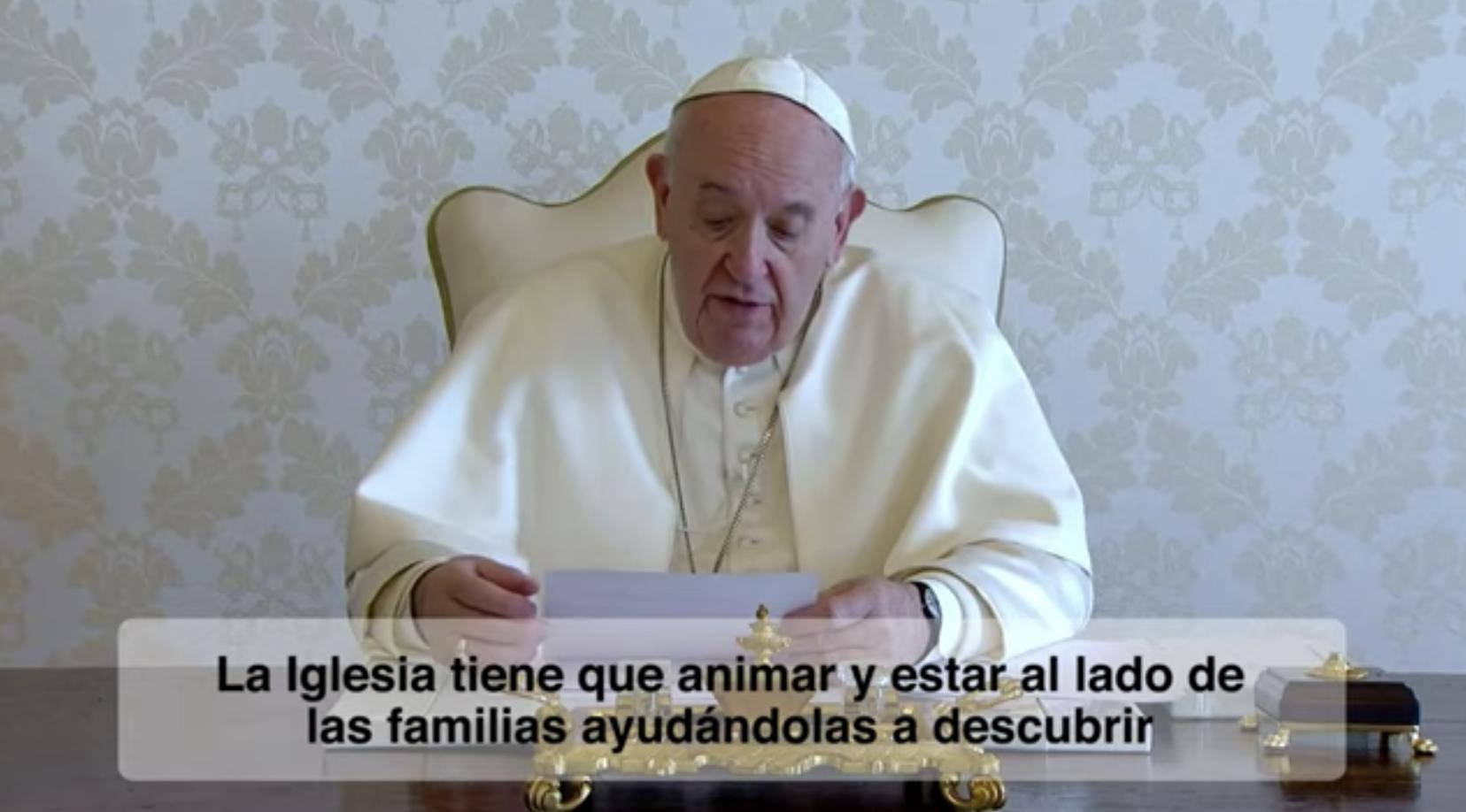 El video del Papa. Nuestras familias. Julio 2020