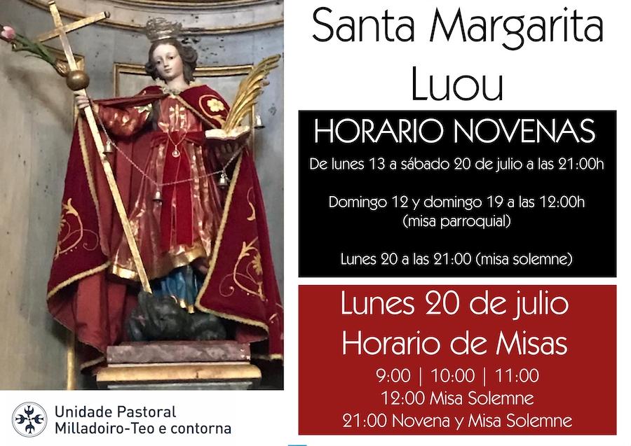 Fiesta en honor a Santa Margarita en Luou