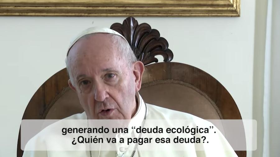 El video del Papa. Respeto de los recursos del planeta